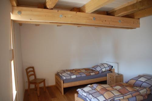Ein Bett oder Betten in einem Zimmer der Unterkunft Carles Scheunenhof