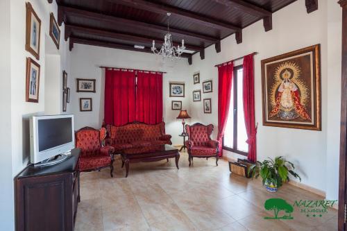 Zona de estar de Complejo Turístico Rural Nazaret De Moguer