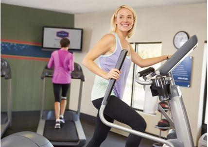 The fitness center and/or fitness facilities at Hampton Inn & Suites St. Louis/Alton, IL