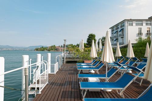 Een balkon of terras bij Hotel Eden