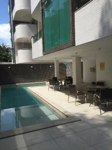 A porch or other outdoor area at Apartamento Capitães de Areia Ilheus