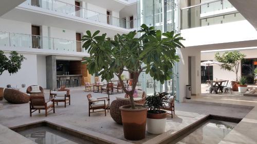 Hol lub recepcja w obiekcie Hotel Catedral La Paz