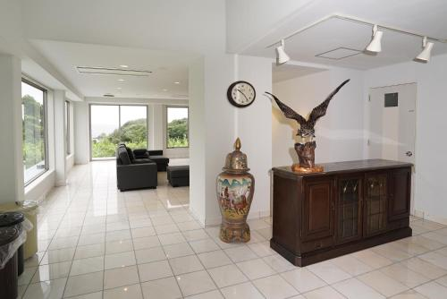 The lobby or reception area at Tobi Hostel and Apartments