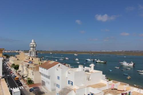 A general view of Isla Cristina or a view of the city taken from the apartment