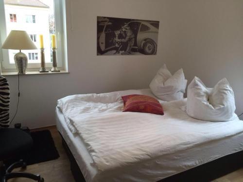 Ein Bett oder Betten in einem Zimmer der Unterkunft Exklusiv