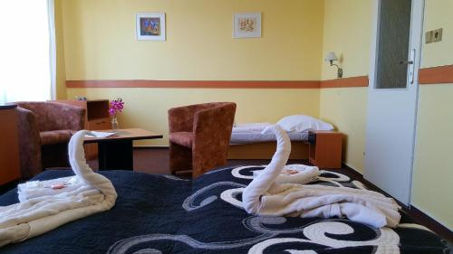Гостиная зона в Hotel Morava