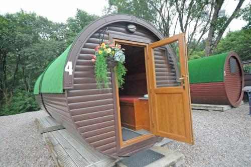 A patio or other outdoor area at Glamping Pods