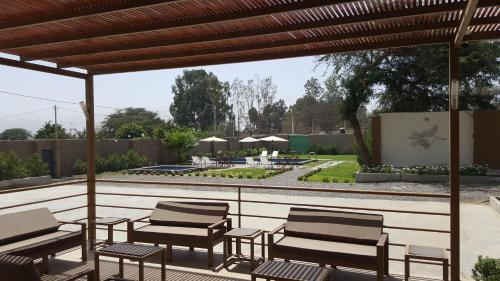 A patio or other outdoor area at B Hotel Nasca