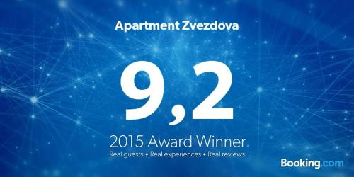 A certificate, award, sign, or other document on display at Apartment Zvezdova