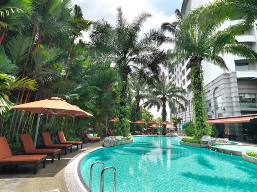 The swimming pool at or near Sama Sama Hotel KLIA