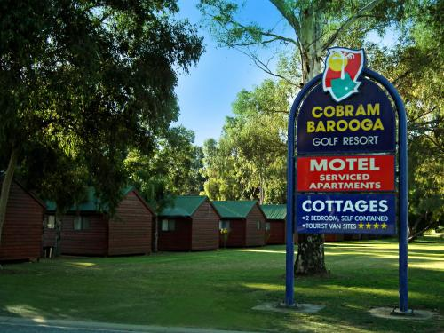 A garden outside Cobram Barooga Golf Resort