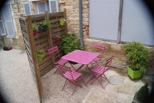 A porch or other outdoor area at Gite le murger