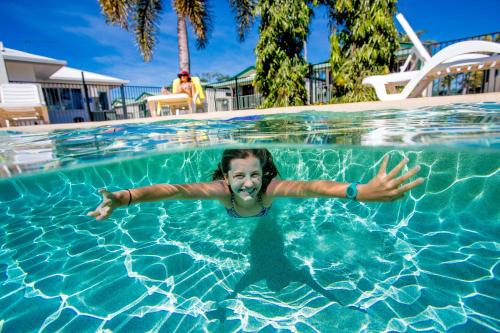 The swimming pool at or near NRMA Bowen Beachfront Holiday Park