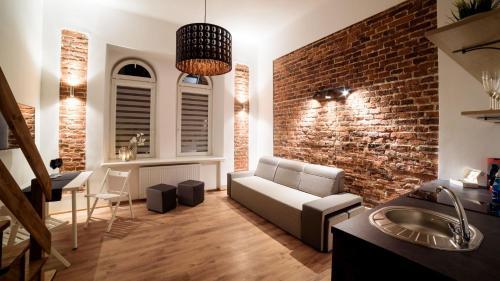 Lounge alebo bar v ubytovaní Cracow Rent Apartments
