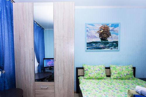 Гостиная зона в ApartLux апартаменты рядом с Москва-Сити