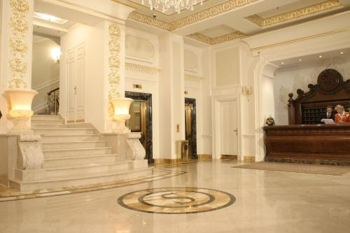 The lobby or reception area at Savoy