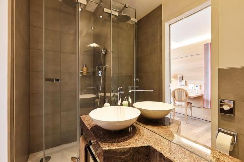 Ein Badezimmer in der Unterkunft Steinenschanze Stadthotel
