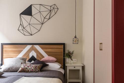 Кровать или кровати в номере New Horizon on Gromovoy