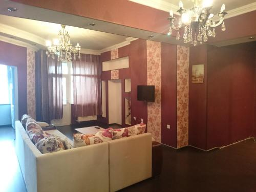 O lounge ou bar de Apartment on Xudu Məmmədov 36
