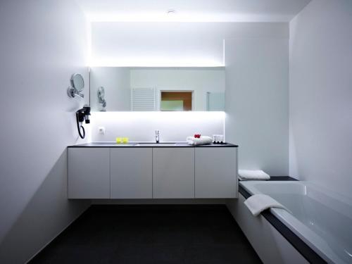 Een badkamer bij B&B Aquabello
