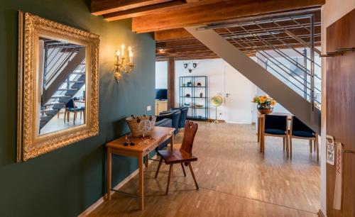 Lounge oder Bar in der Unterkunft Apparthotel STEIGER Bad Schandau