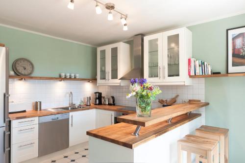 Küche/Küchenzeile in der Unterkunft Ferienhaus Kastanie