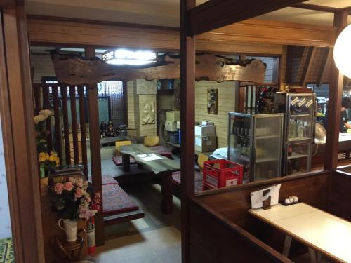 A restaurant or other place to eat at Onsen Minsyuku Ryougoku