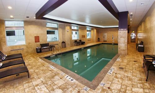 The swimming pool at or near Hilton Harrisburg near Hershey Park