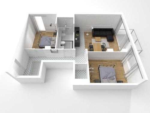 Plan piętra w obiekcie Apartament August