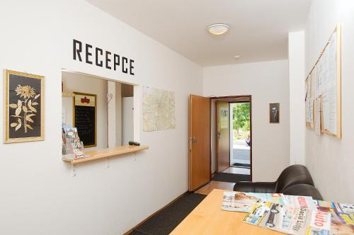 The lobby or reception area at Abex Hostel