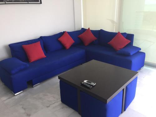 El salón o zona de bar de Condominios Acqua, Nuevo Vallarta