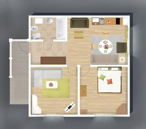 The floor plan of Holiday Home Peredelkino