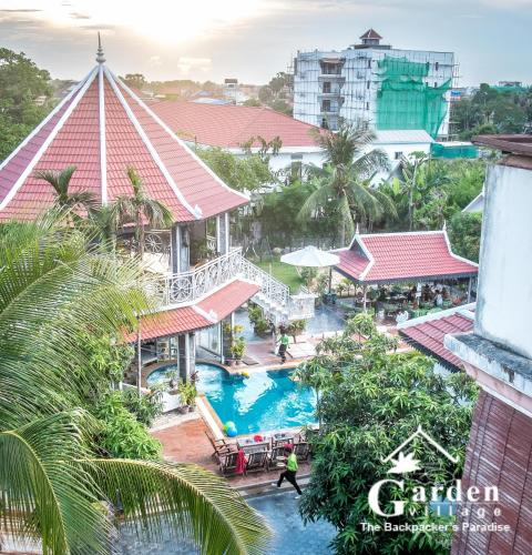 A bird's-eye view of Garden Village Guesthouse & Pool Bar