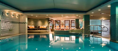 The swimming pool at or near Hilton Dresden
