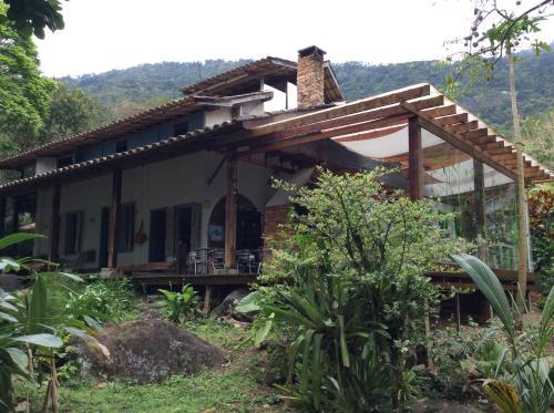 A patio or other outdoor area at Pousada Casa Grande