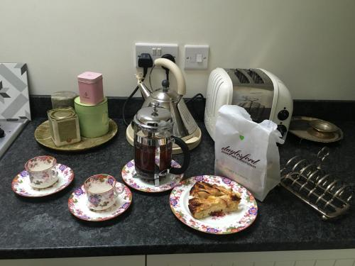 Coffee and tea-making facilities at Cotswold Cottage