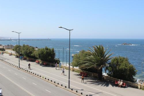 A balcony or terrace at OceanView Oporto Foz