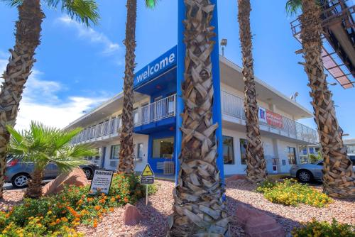 The facade or entrance of Motel 6-Las Vegas, NV - I-15
