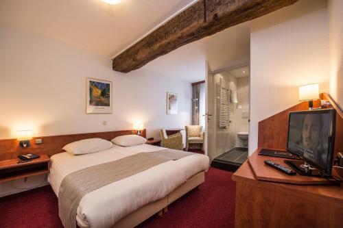Een kamer bij Hotel Restaurant in den Hoof