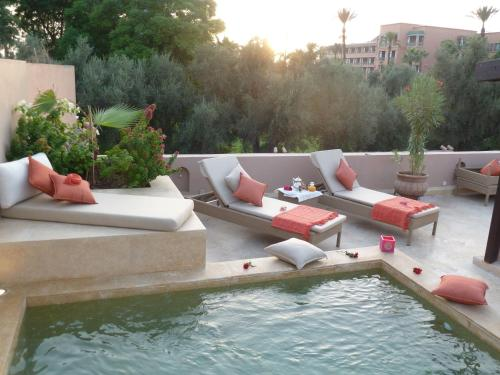 A porch or other outdoor area at Riad Viva