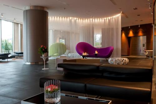 The lounge or bar area at The Hub Hotel