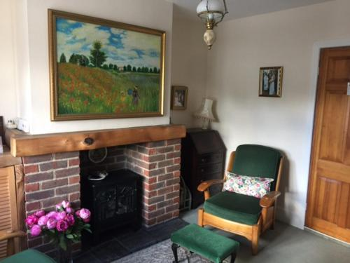 The lobby or reception area at A-Bow Cottage