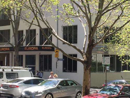 The facade or entrance of Europa Melbourne