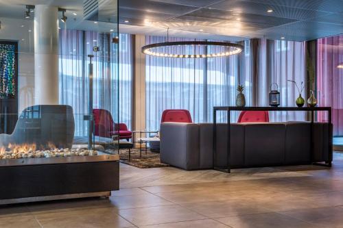 The lounge or bar area at Radisson Blu Hotel Tromsø