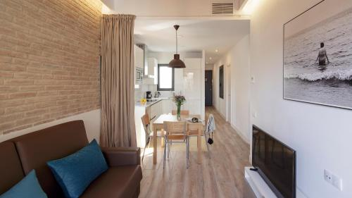 A seating area at Hotel Sagrada Familia Apartments