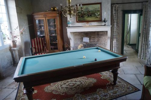 A pool table at Le Domaine de Rochefort