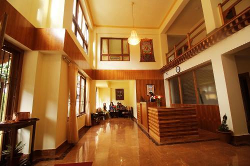 The lobby or reception area at Hotel Tarayana Grand
