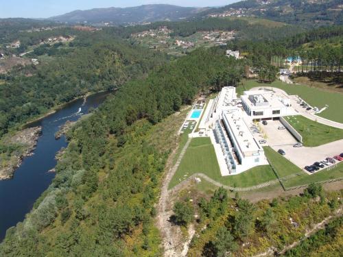 Uma vista aérea de Monte Prado Hotel & Spa