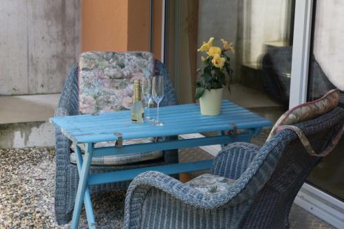 Ein Sitzbereich in der Unterkunft Chez Pio