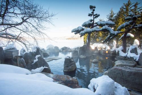 Akan Yuku no Sato Tsuruga during the winter